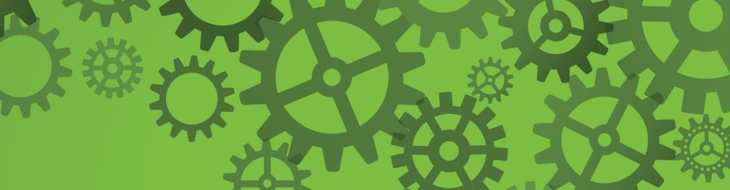 AHC green banner image of cogs